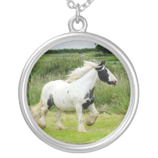Gypsy Vanner horse trotting Necklace