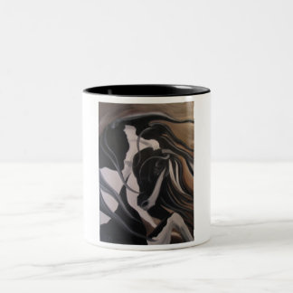 Gypsy Vanner I Two-Tone Coffee Mug