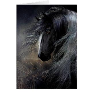 Gypsy Vanner Portrait Greeting Card