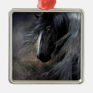 Gypsy Vanner Portrait Metal Ornament