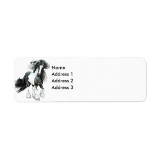 Gypsy Vanner...Prince, Address 3, Address 2, Ad... Return Address Labels