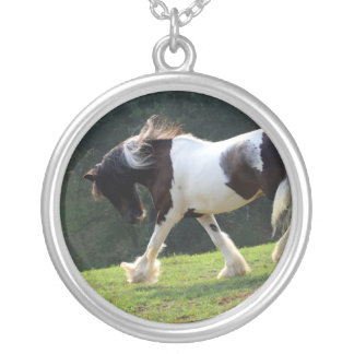 Gypsy Vanner Silver Plated Necklace