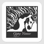Gypsy Vanner Square Sticker