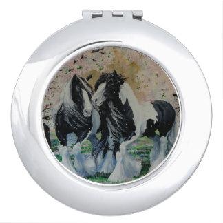 Gypsy Vanner stallion/mare cherry blossoms Vanity Mirror