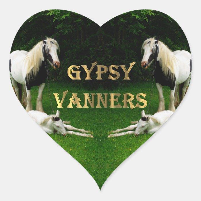 Gypsy Vanners Heart Sticker