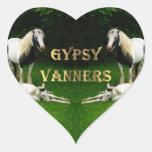 Gypsy Vanners Heart Stickers