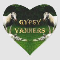 Gypsy Vanners Heart Stickers