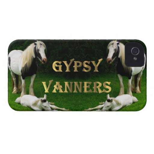 Gypsy Vanners iPhone 4 Case-Mate Cases