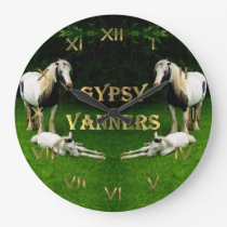 Gypsy Vanners Large Clock