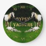 Gypsy Vanners Round Wall Clock