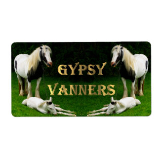 Gypsy Vanners Shipping Label