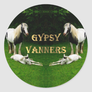 Gypsy Vanners Classic Round Sticker