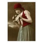 Gypsy vintage girl greeting card