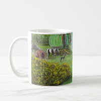 Gypsy wagons and horses mug