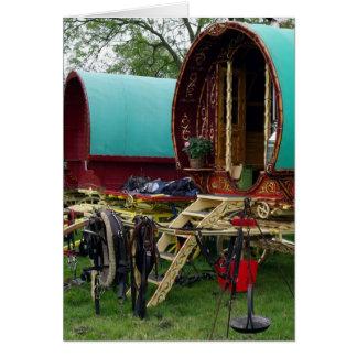 gypsy wagons greeting card