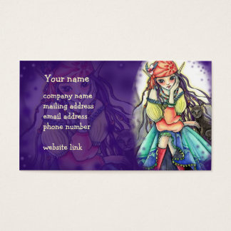 "Gypsy Witch & Cat ""The Visitor"" Business Card"