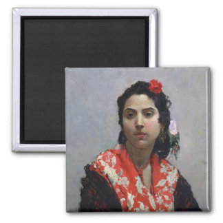 Gypsy Woman 2 Inch Square Magnet