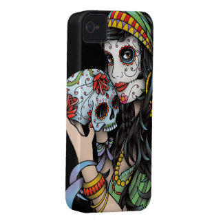 Gypsy Woman Day of the Dead Case-Mate iPhone 4 Case