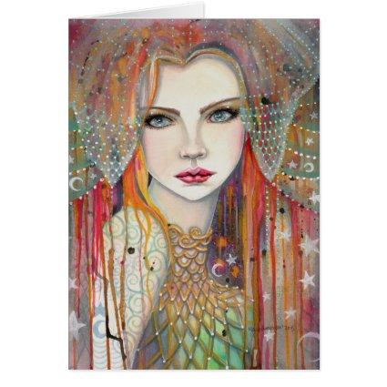 Gypsy Woman Fantasy Art by Molly Harrison Card