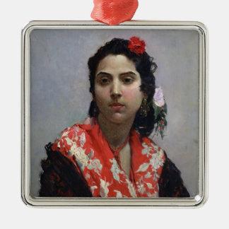 Gypsy Woman Metal Ornament