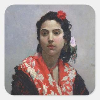 Gypsy Woman Square Sticker