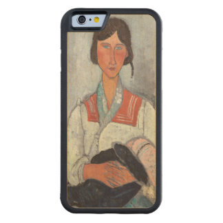 Gypsy Woman with Baby, 1919 (oil on canvas) Carved Maple iPhone 6 Bumper Case