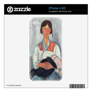 Gypsy Woman with Baby, 1919 (oil on canvas) iPhone 4 Decal