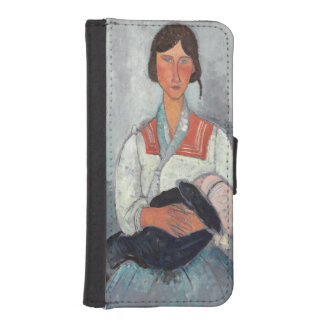 Gypsy Woman with Baby, 1919 (oil on canvas) iPhone SE/5/5s Wallet Case