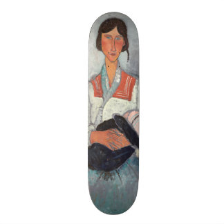 Gypsy Woman with Baby, 1919 (oil on canvas) Skateboard Deck