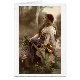 Gypsy Woman with Guitar Card