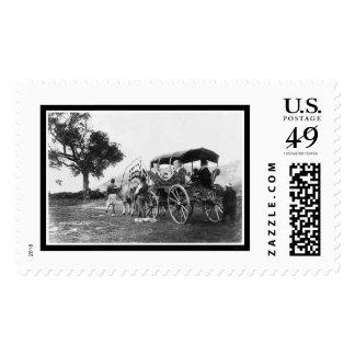 Gypsy Women in a Wagon in Turkey 1895 Postage Stamp