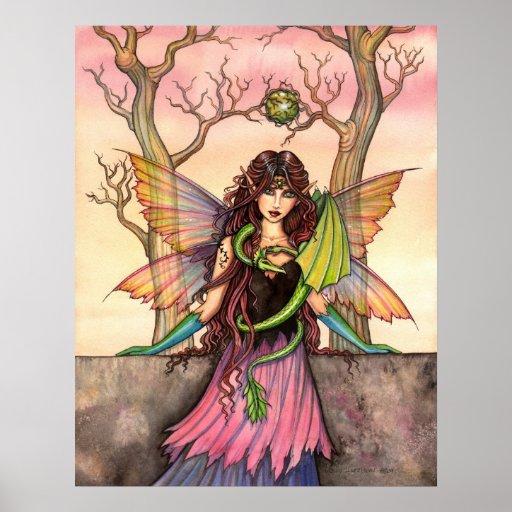 Gypsy's Dragon Fairy Poster Print