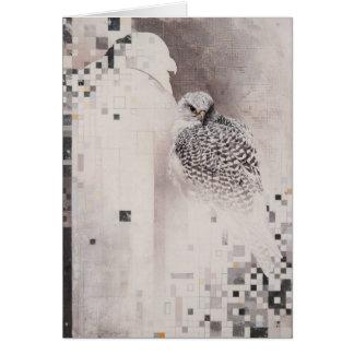 Gyrfalcon Blank Card by Andrew Denman