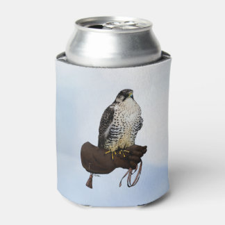 Gyrfalcon on Glove Can Cooler
