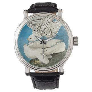 Gyrfalcons (aka gerfalcon) por John James Audubon Reloj De Mano