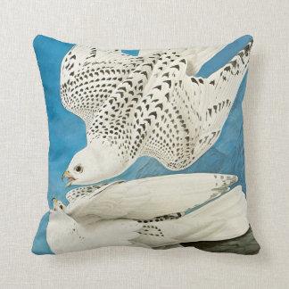 Gyrfalcons, aka Gerfalcons by John James Audubon Throw Pillow