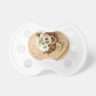 Gyros pita with tzatziki coleslaw olives and feta pacifier