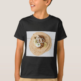 Gyros pita with tzatziki coleslaw olives and feta T-Shirt