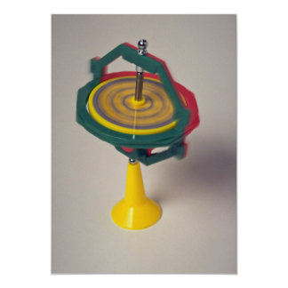 Gyroscope device for measuring orientation card
