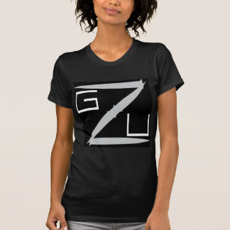 GZU Pointes Ecriture Blanche Camiseta