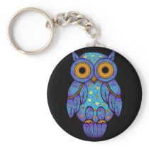 H00t Owl Midnight Madness Keychain