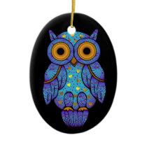 H00t Owl Midnight Madness Oval Ornament