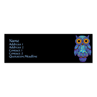 H00t Owl Profile Cards Double-Sided Mini Business Cards (Pack Of 20)