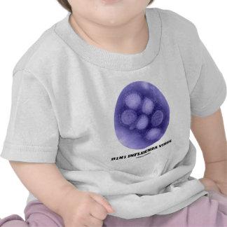 H1N1 Influenza Virus Tee Shirts