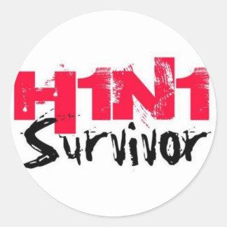 H1N1 Survivor Gear Classic Round Sticker