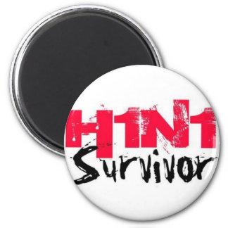 H1N1 Survivor Gear Magnet