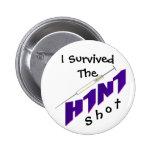 H1N1 Vaccine Button Pin