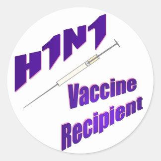 H1N1 Vaccine Recipient Sticker