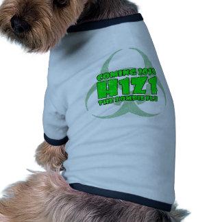 H1Z1 The Zombie Flu Dog Tee Shirt