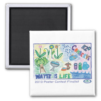 H20 Conserve 2 Inch Square Magnet